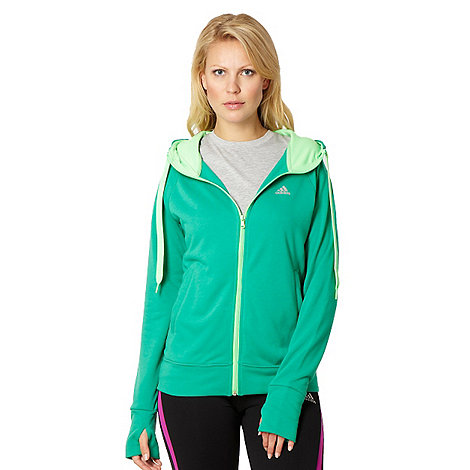adidas - Green zip through hoodie