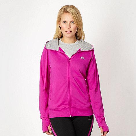 adidas - Purple zip through hoodie