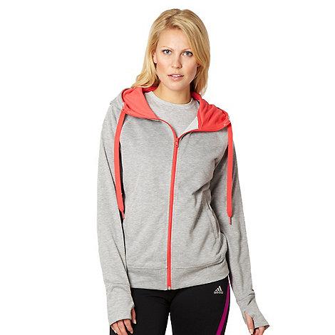 adidas - Grey zip through hoodie