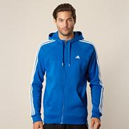 Adidas blue hooded jacket