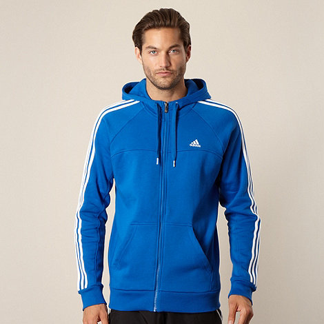 adidas - Blue hooded jacket