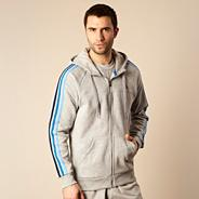 Adidas grey hooded jacket