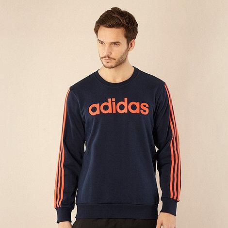 adidas - Navy logo printed sweatshirt