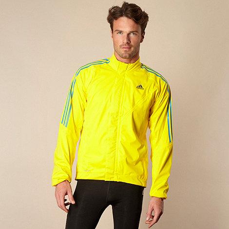 adidas - Yellow +Climaproof+ cycling tour rain jacket