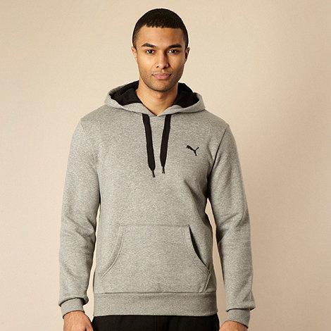 Puma - Grey logo sweat hoodie