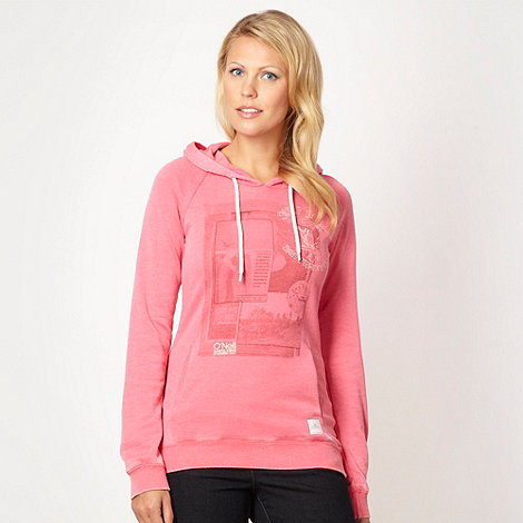 O+Neill - Pink photographic +Surf Shop+ hoodie