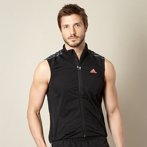 adidas - Black +Climaproof+ cycling tour gilet