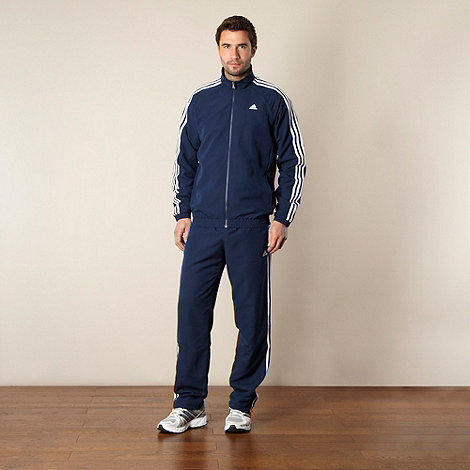 adidas - Navy woven tracksuit