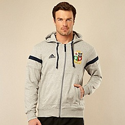 adidas - British & Irish Lions' grey hoodie