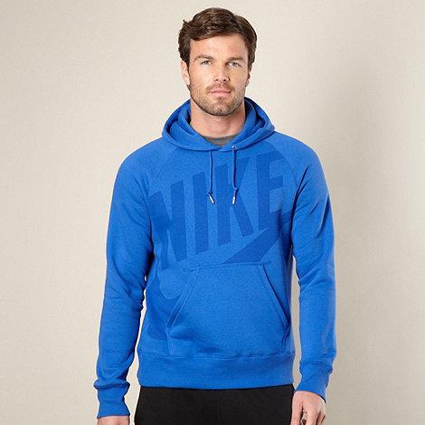 Nike - Blue logo hoodie