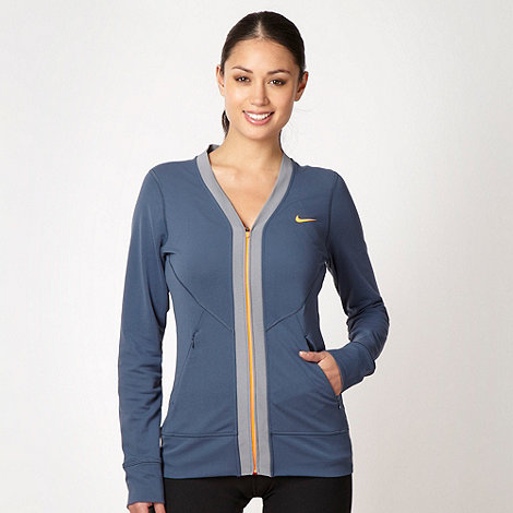 Nike - Navy zip through sweatshirt