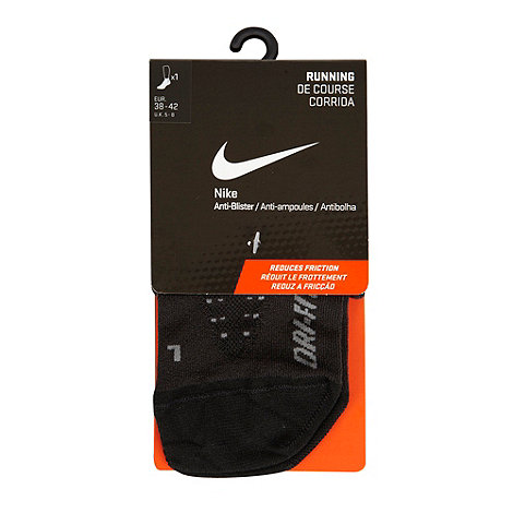 Nike - Black anti-blister running ankle socks