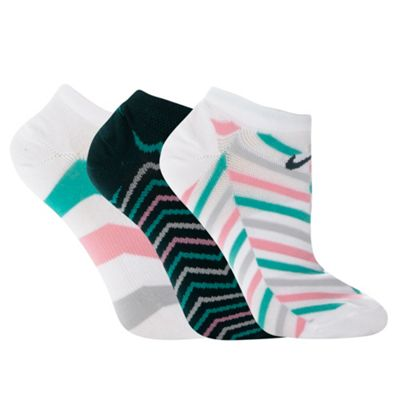 Nike pack of three striped cotton ankle socks