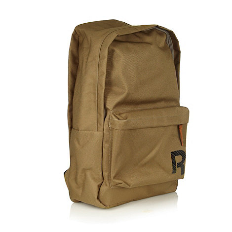 Reebok - Khaki textured +Drop+ backpack
