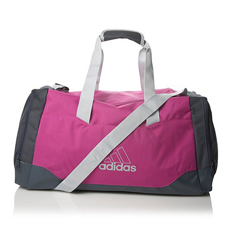 adidas - Pink colour blocked holdall