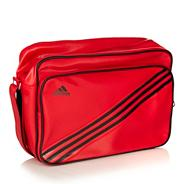 Adidas red 'Enamel' messenger bag