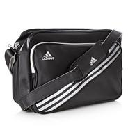 Adidas black rectangular messenger bag