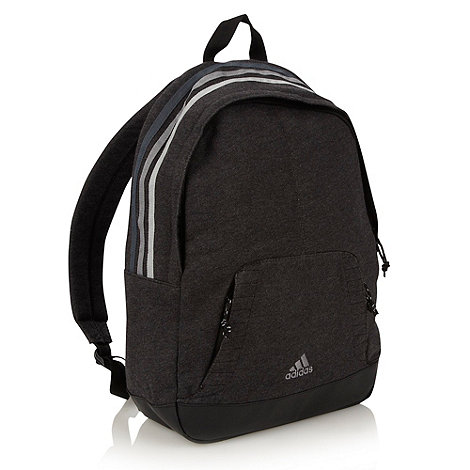 adidas - Grey jersey panelled backpack