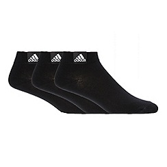 adidas - Pack of three black trainer socks