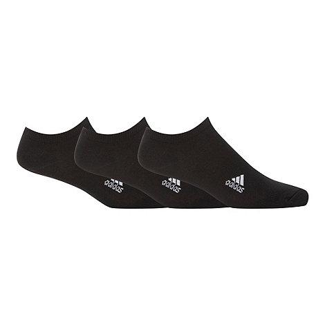 adidas - Pack of three black trainer socks