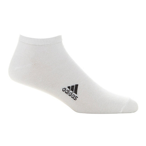 adidas - Pack of three white trainer socks