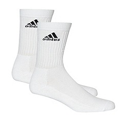 adidas - Pack of three white sports socks
