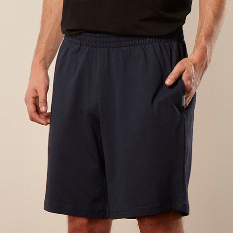 Reebok - Navy knit sweat shorts