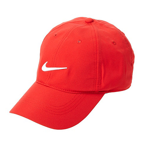 Nike - Red embroidered logo baseball cap