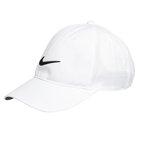 Nike - White embroidered logo baseball cap