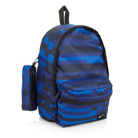 Nike - Children+s blue block striped +Half day+ backpack