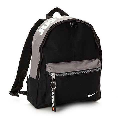 Nike - Boy+s black logo printed backpack