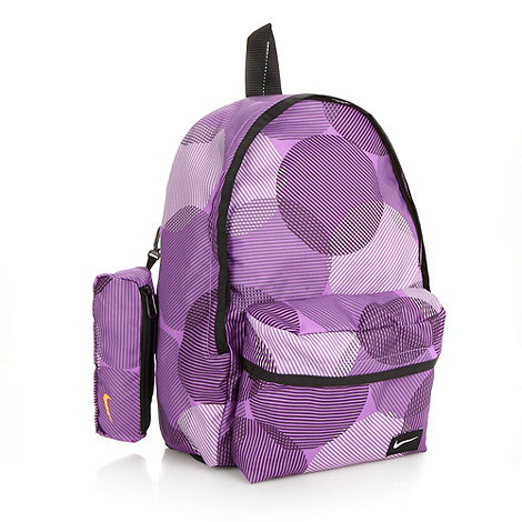 Nike - Children+s purple spotted +Half day+ backpack