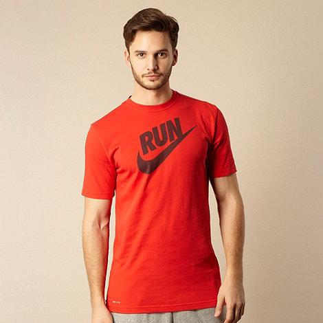Nike - Red logo running t-shirt