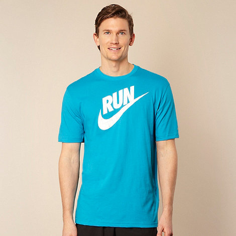 Nike - Blue +RUN+ logo t-shirt