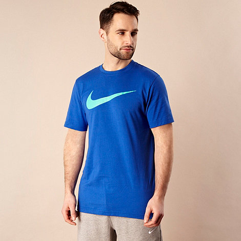 Nike - Bright blue brand logo t-shirt