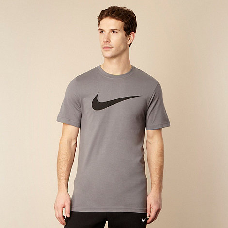 Nike - Grey printed logo t-shirt