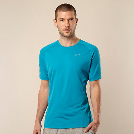 Nike - Blue perforated running top