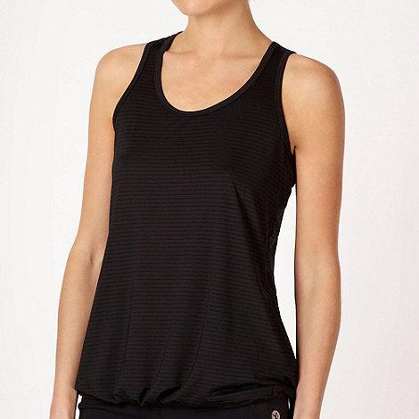 XPG by Jenni Falconer - Black textured striped training vest top