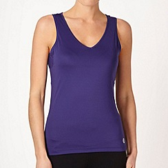 XPG by Jenni Falconer - Dark purple v-neck vest top