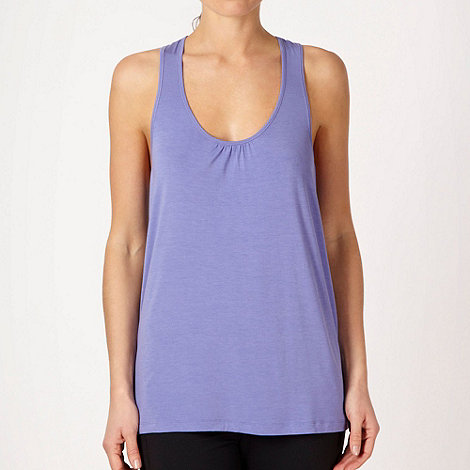 XPG by Jenni Falconer - Lilac draped training vest top