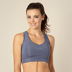 Elle Sport - Grey perforated lined sports bra