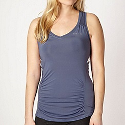 Elle Sport - Grey perforated panel racer vest