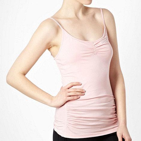 Elle Sport - Light pink in-built support vest top