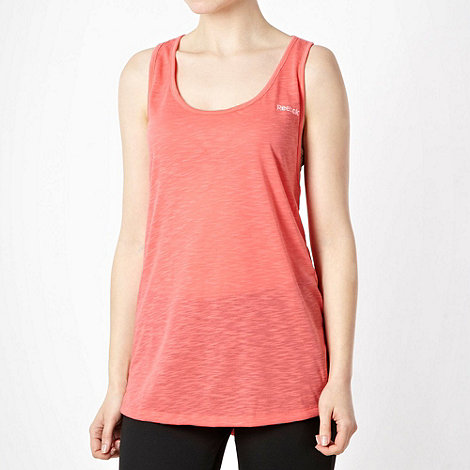 Reebok - Coral textured twist back tank top