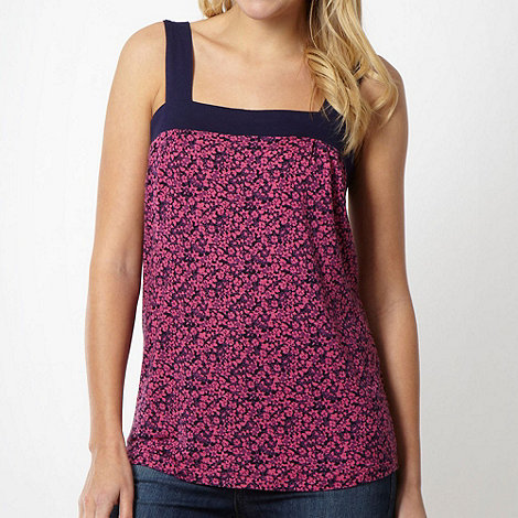 Animal - Dark pink floral jersey vest