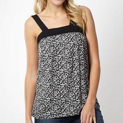 Animal - Black floral jersey vest