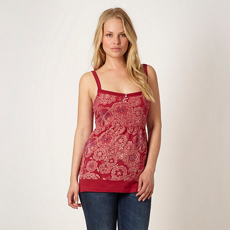 Weird Fish - Dark red floral vest