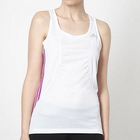 adidas - White fitted tank top