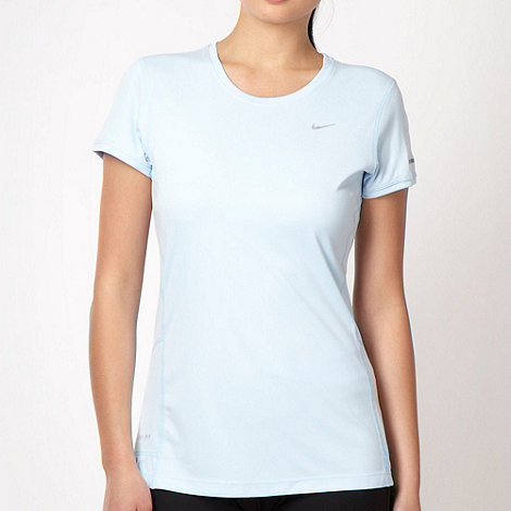 Nike - Light blue slim fit training top