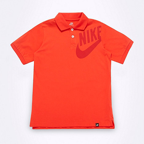 Nike - Boy+s orange +Limitless+ polo shirt